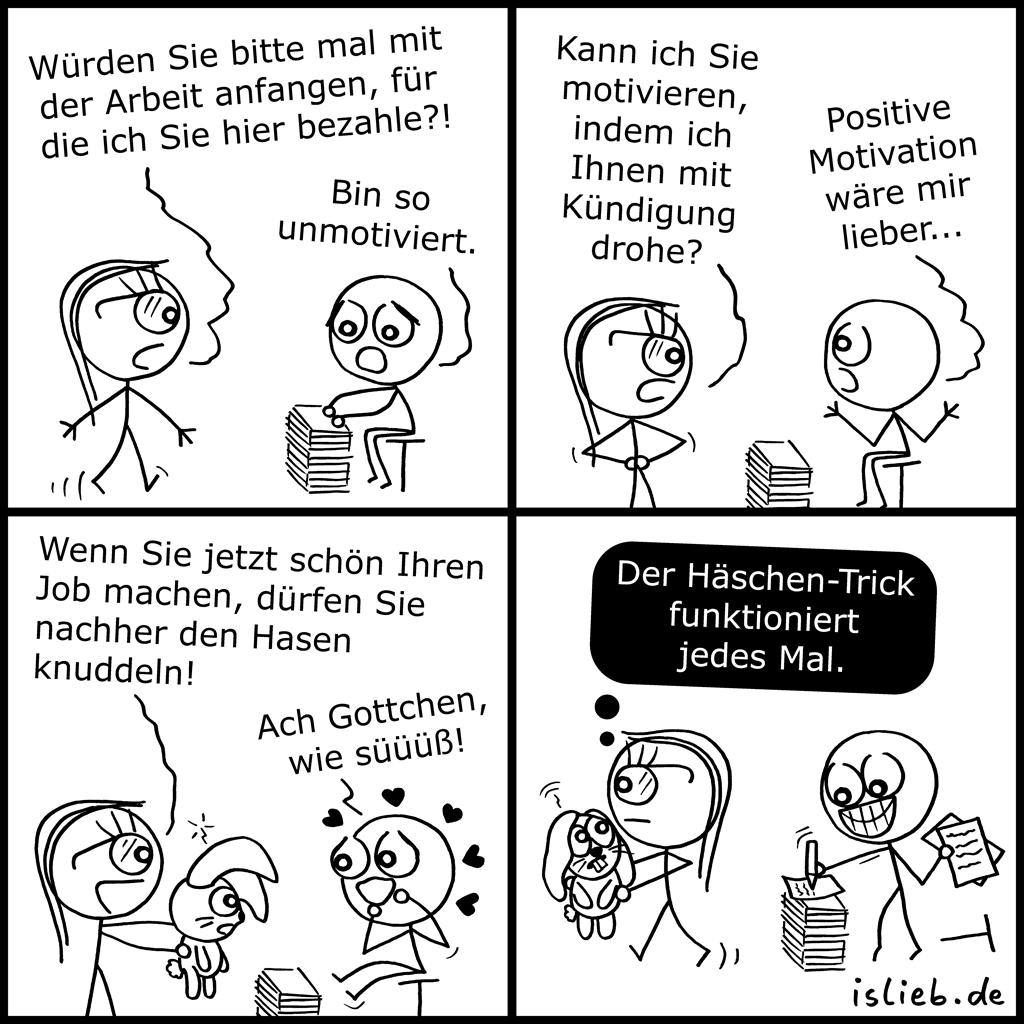 Unmotiviert | Arbeitnehmer-Comic | is lieb?