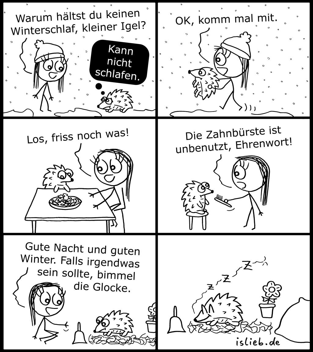 Winterschlaf | Igel-Comic | is lieb?