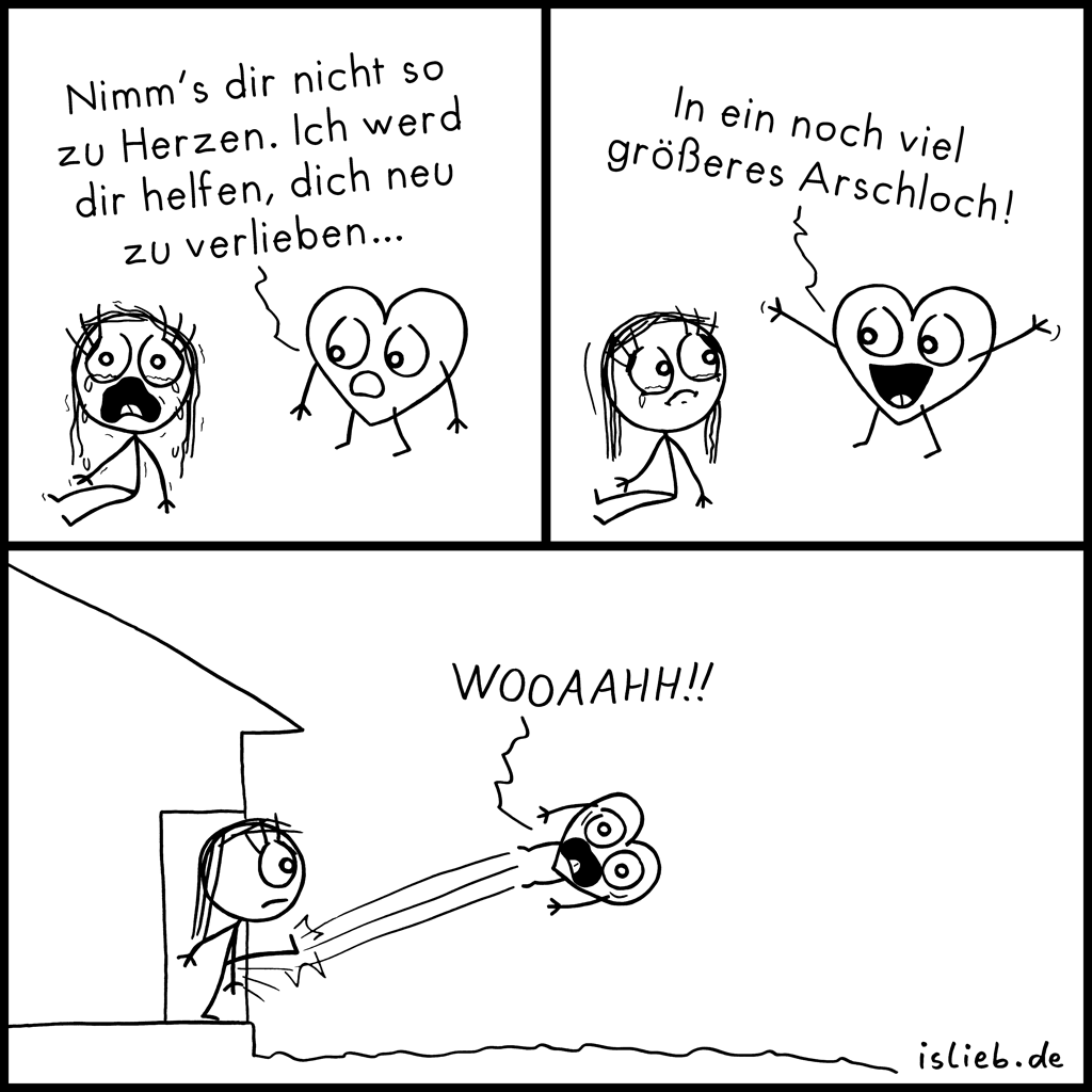 Zu Herzen | Kummer-Comic | is lieb?