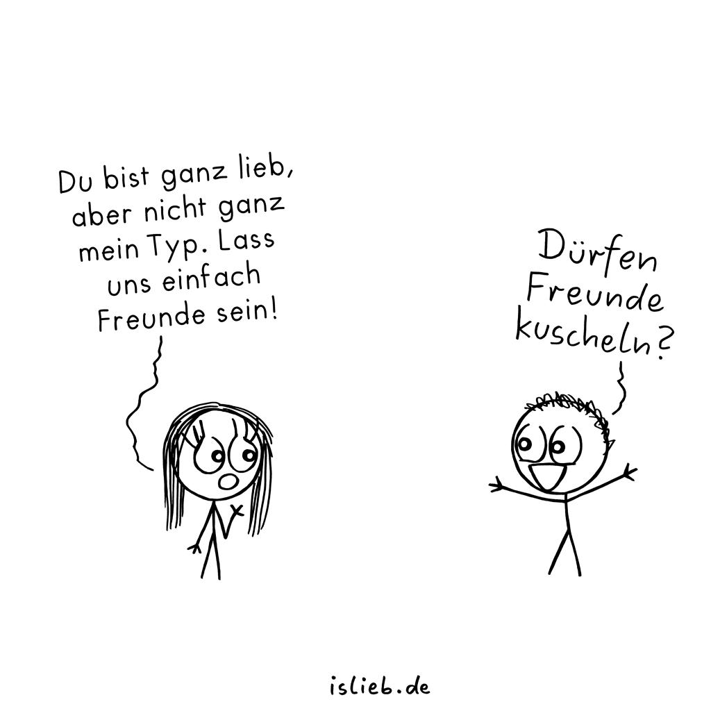 Freundschaft | Strichmännchen-Cartoon | is lieb?