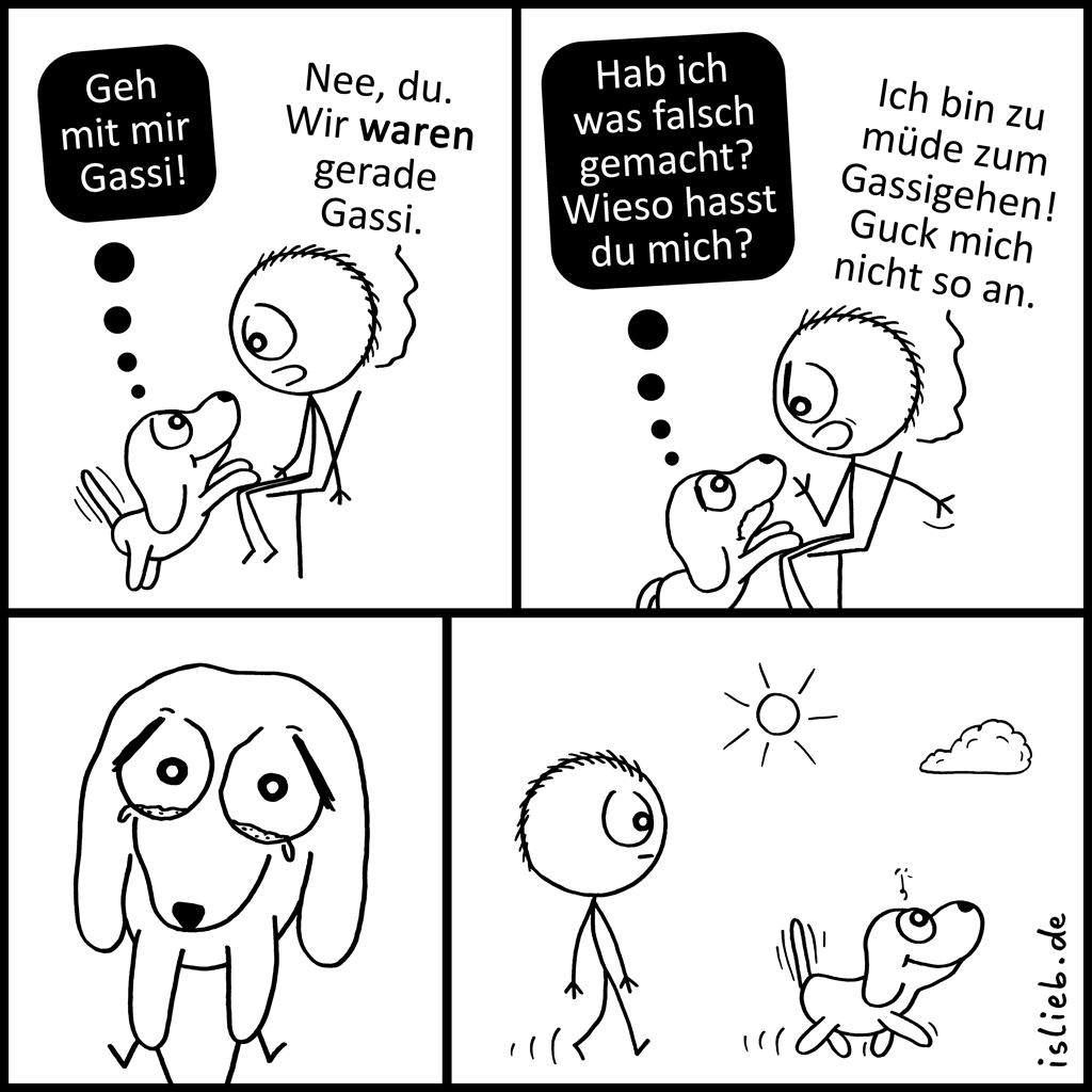 Gassi | Hunde-Comic | is lieb?