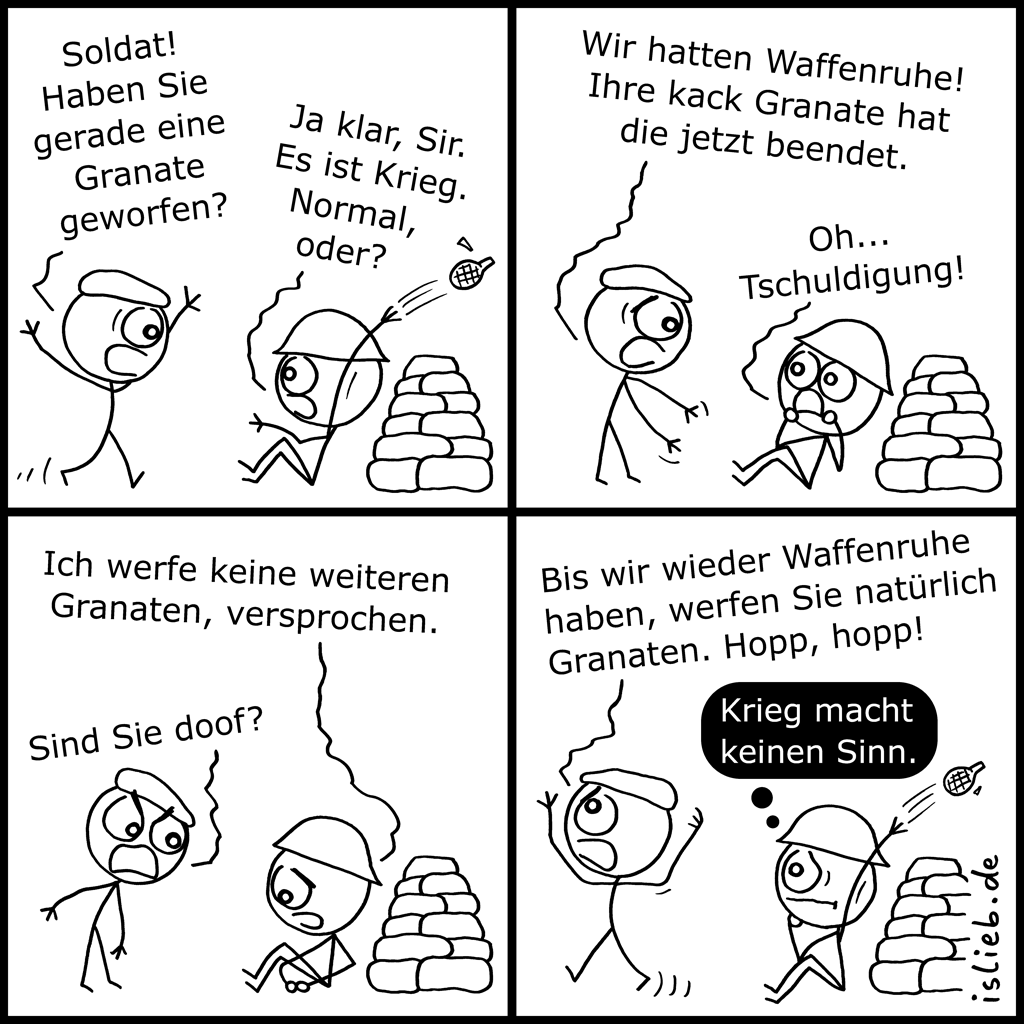 Granate | Kriegs-Comic | is lieb?