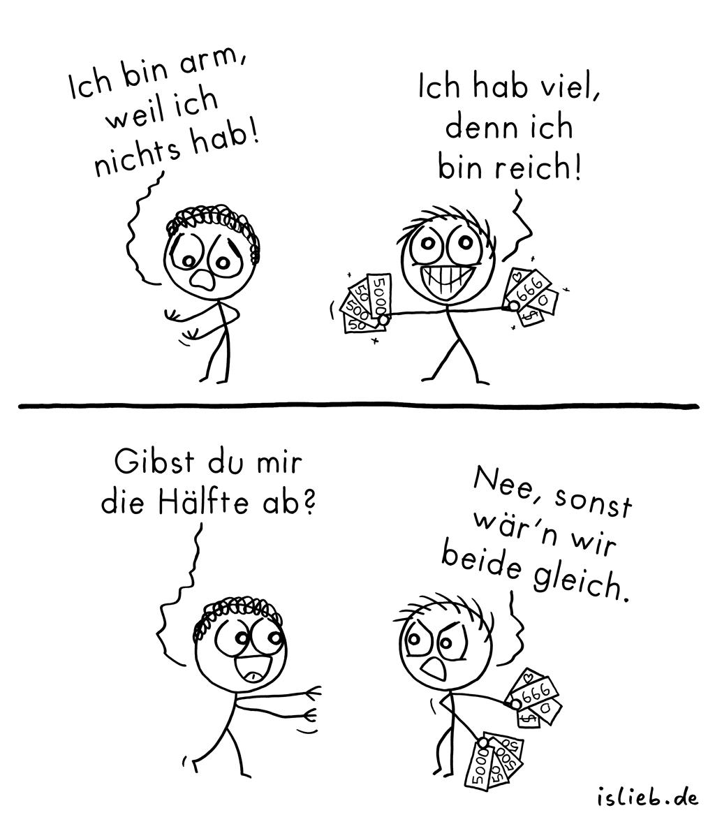 Hälfte | Strichmännchen-Comic | is lieb?