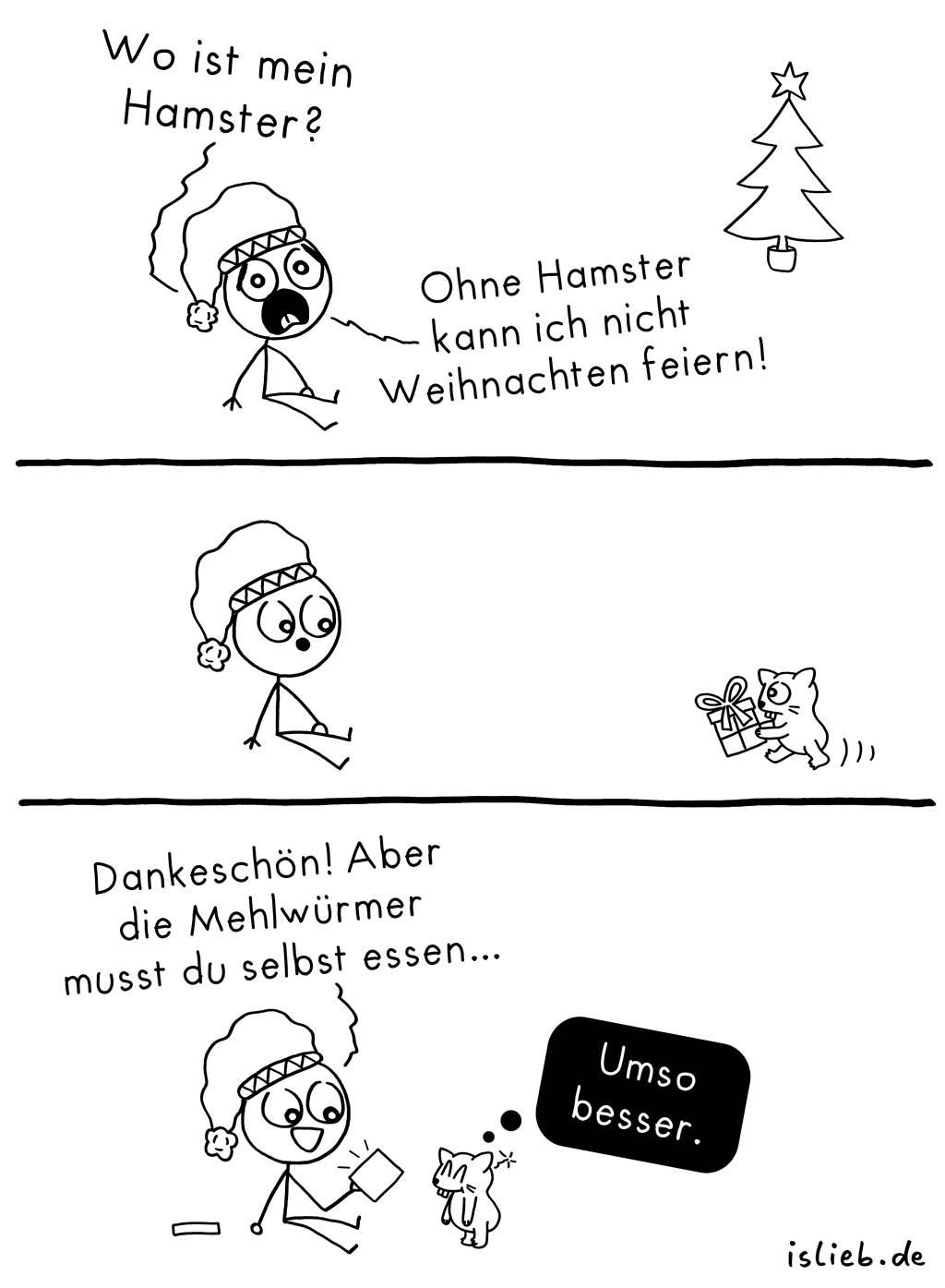 Hamster | Weihnachts-Comic | is lieb?