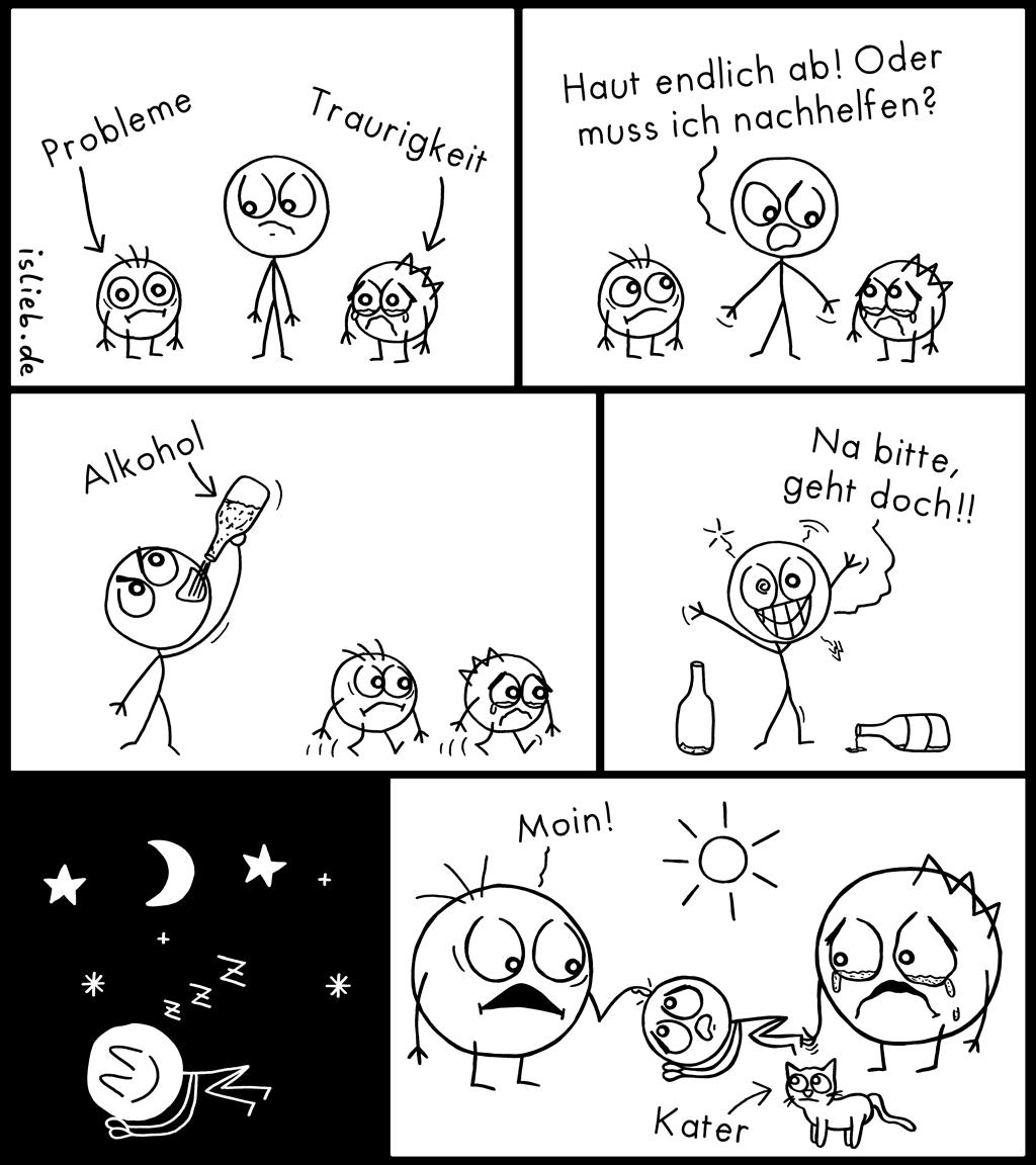 Nachhelfen | Strichmännchen-Comic | is lieb?