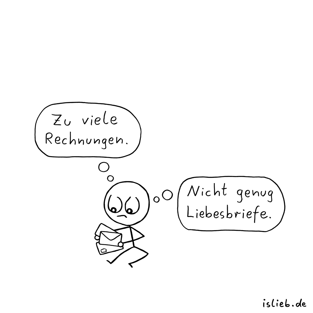 Post | Brief-Cartoon | is lieb?