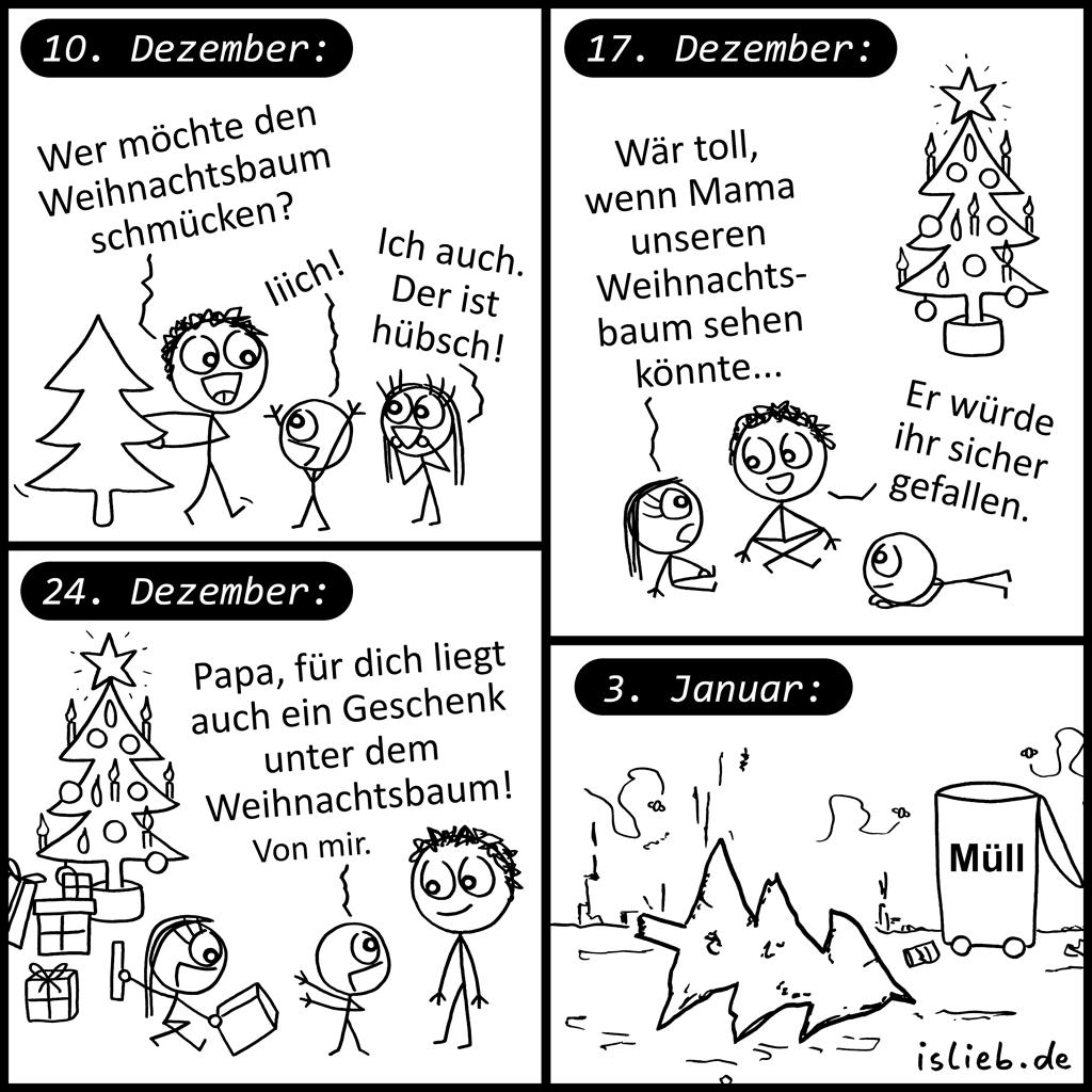 Weihnachtsbaum | Familien-Comic | is lieb?