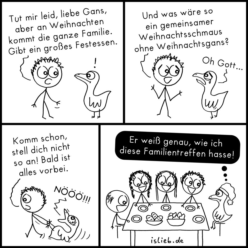 Weihnachtsgans | Familien-Comic | is lieb?