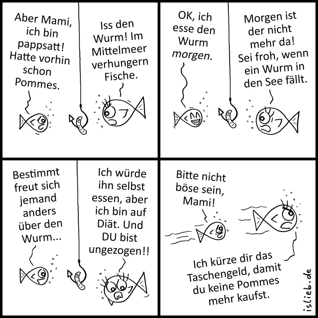 Wurm | Fisch-Comic | is lieb?