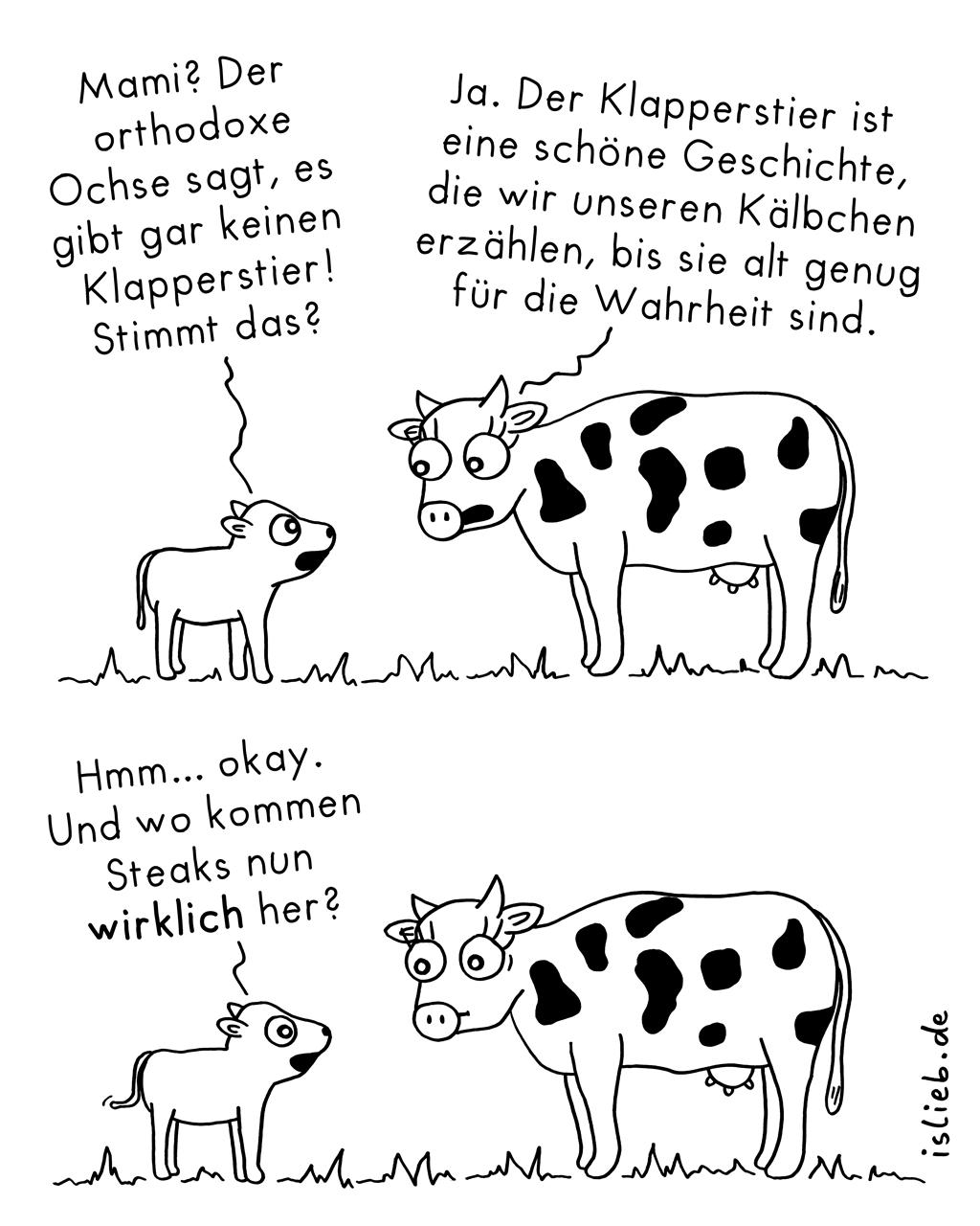 Aufklärung | Kuh-Comic | is lieb?