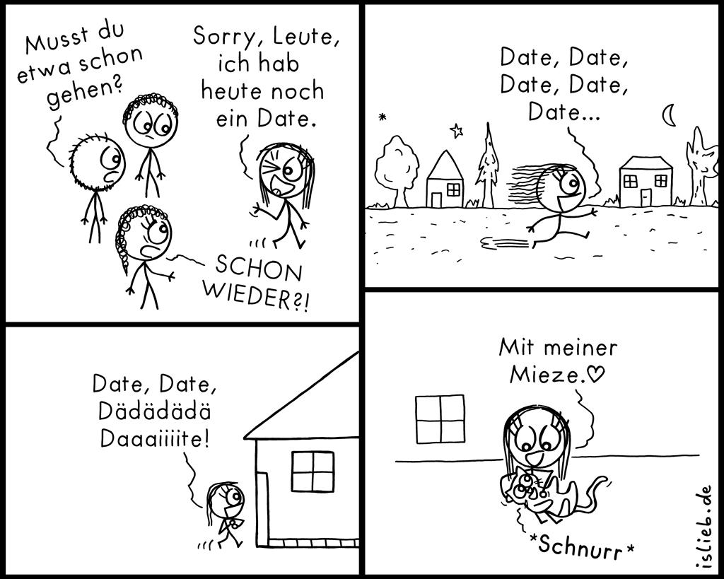 Date | Strichweibchen-Comic | is lieb?