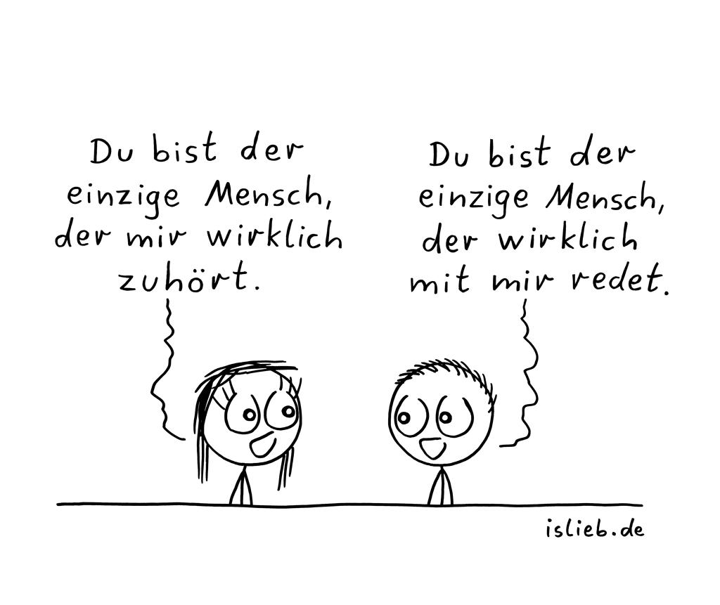 Einziger-Mensch | islieb-Cartoon | is lieb?