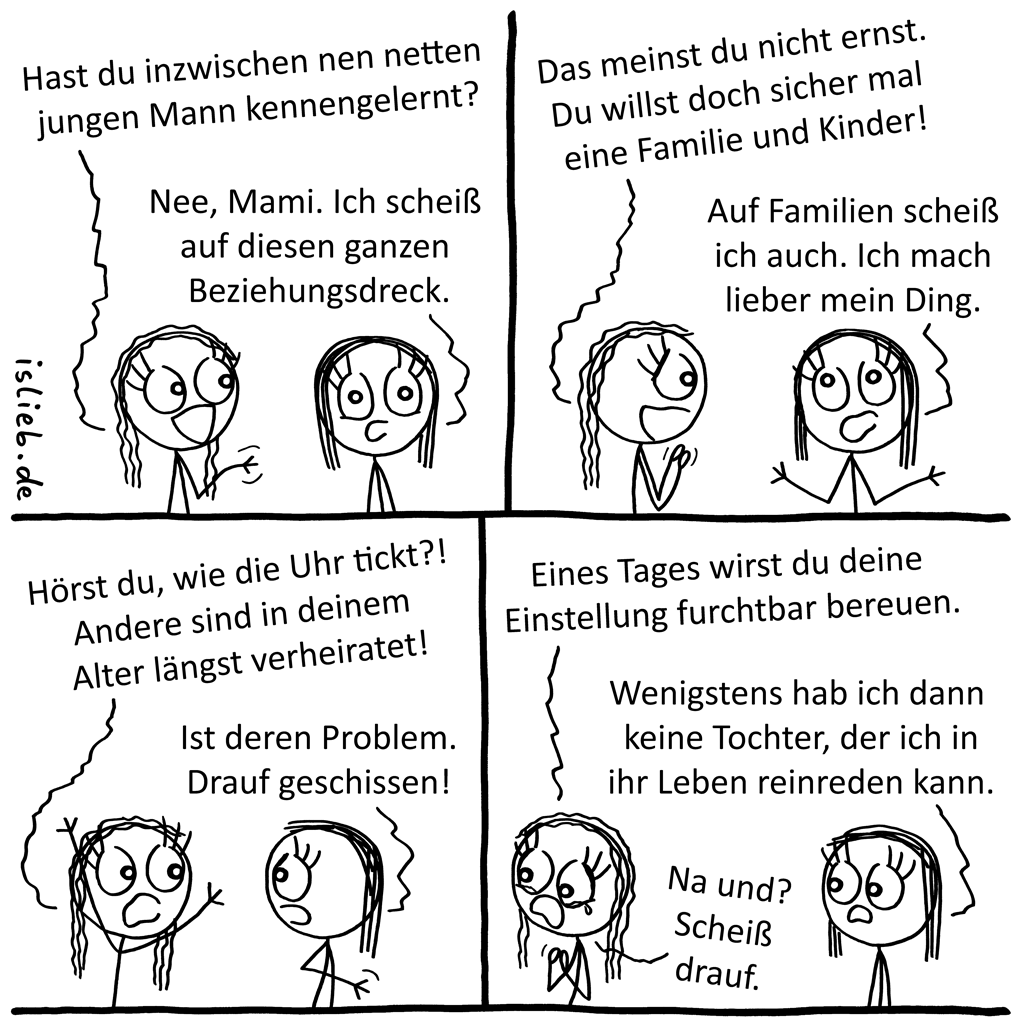 Familienplanung | Mutter-Tochter-Comic | is lieb?