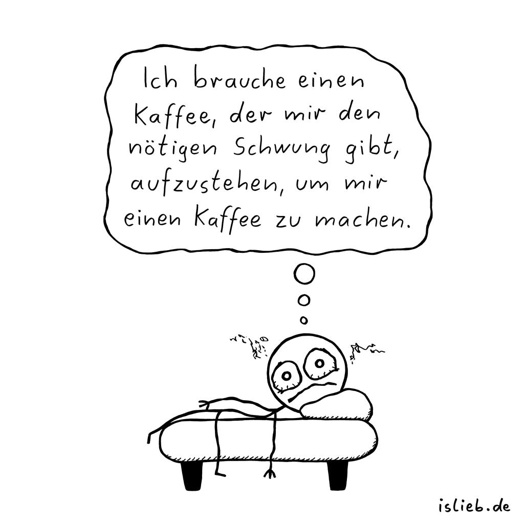 Kaffeeproblem | Morgen-Comic | is lieb?