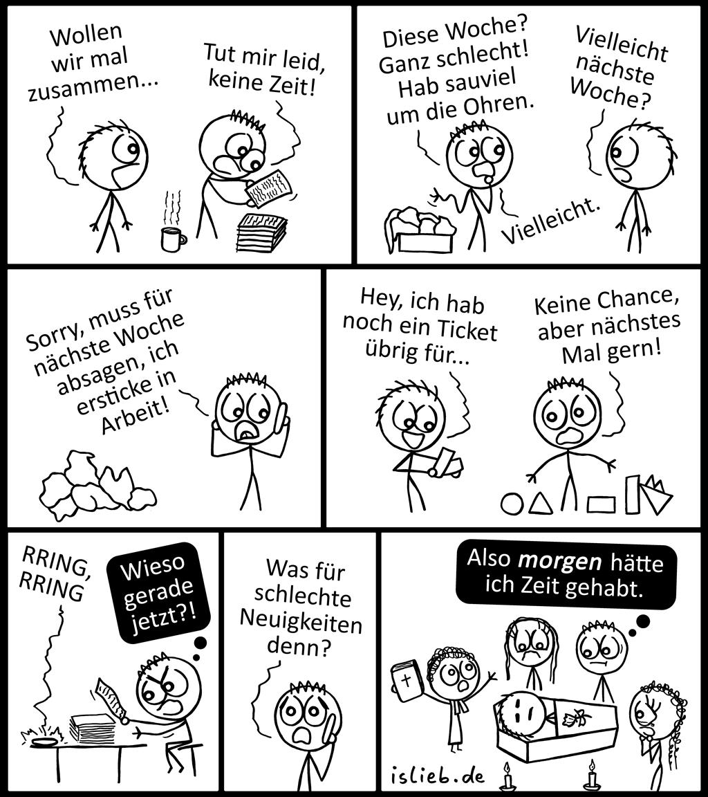 Keine Zeit | Workaholic-Comic | is lieb?