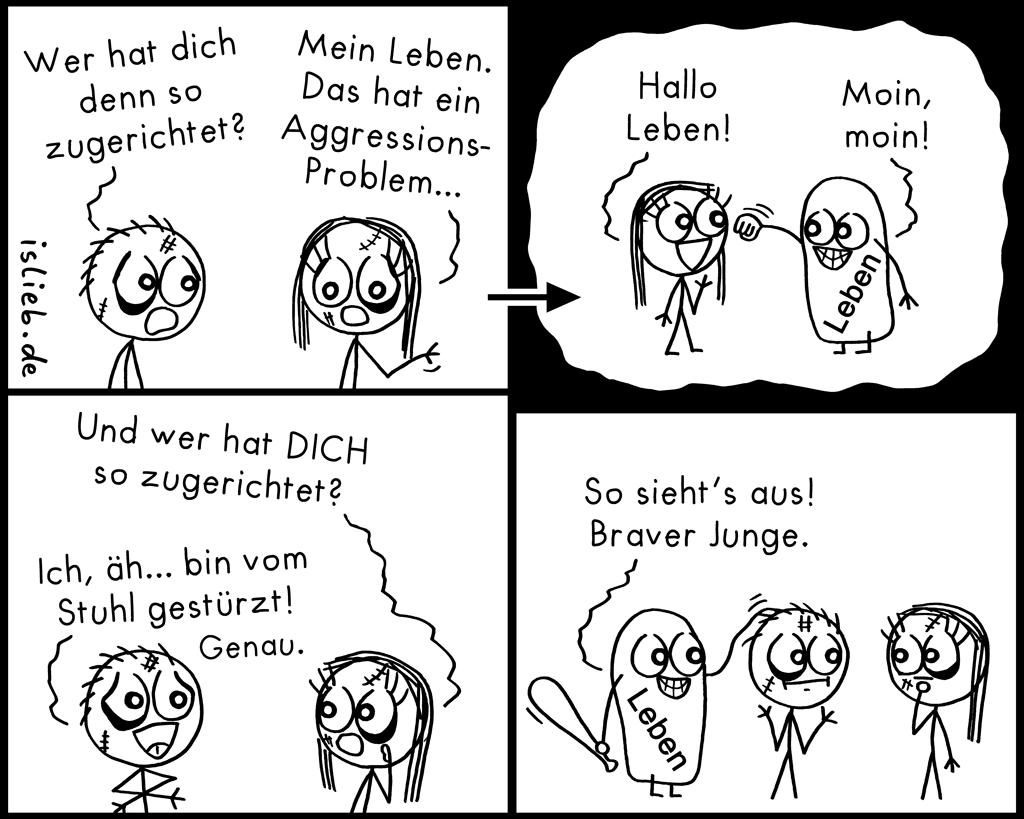 Lebende Gewalt | Opfer-Comic | is lieb?
