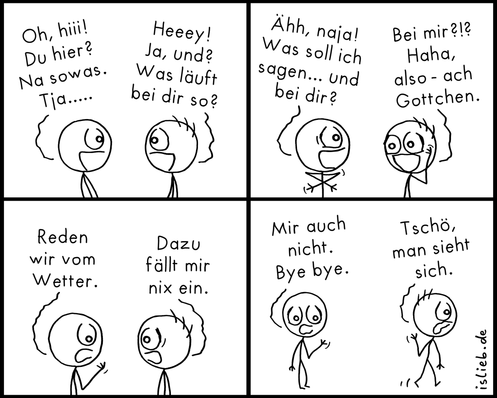Na sowas | Kommunikations-Comic | is lieb?
