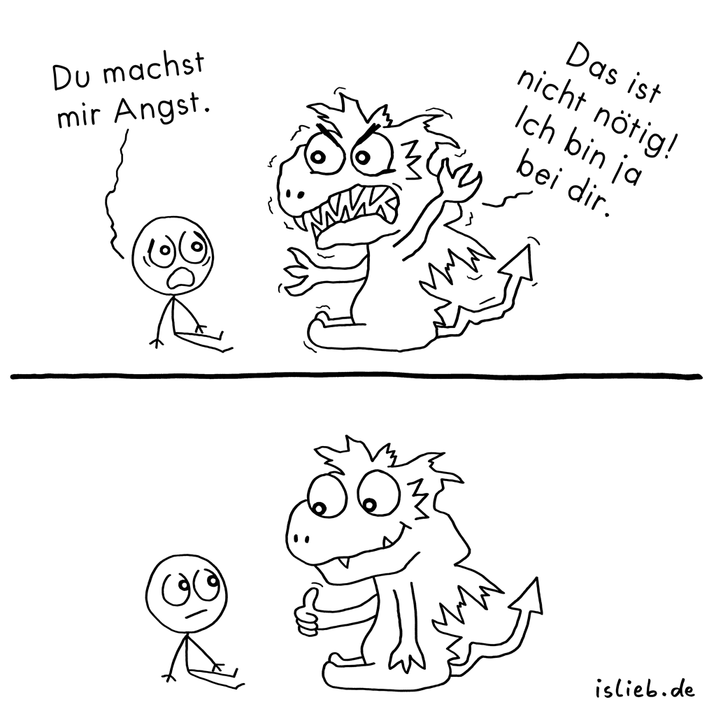 Nicht nötig | Monster-Comic | is lieb?
