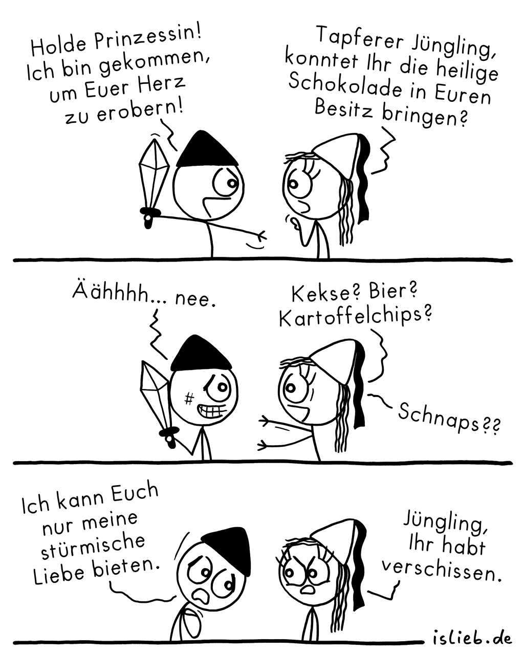 Eroberung | Mittelalter-Comic | is lieb?