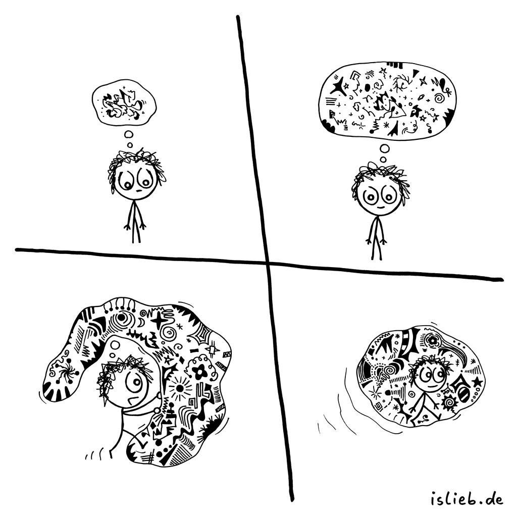 In Gedanken | Strichmännchen-Comic | is lieb?