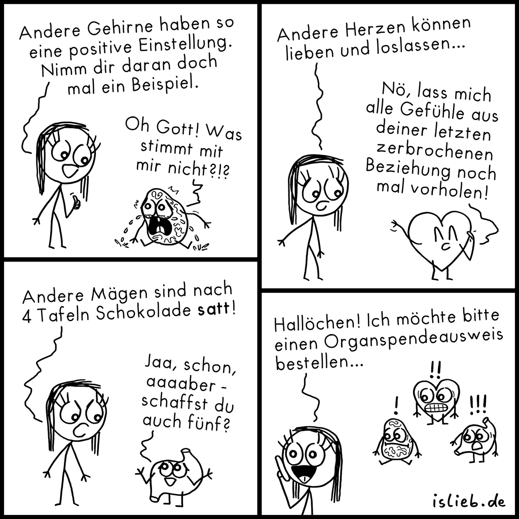 Interne Probleme | Krakel-Comic | is lieb?