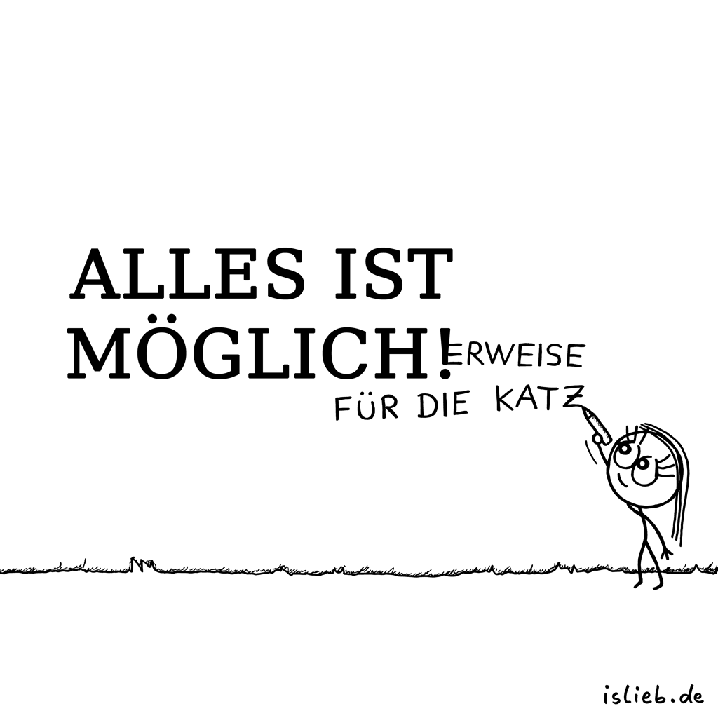 Möglich | Philosophie-Cartoon | is lieb?