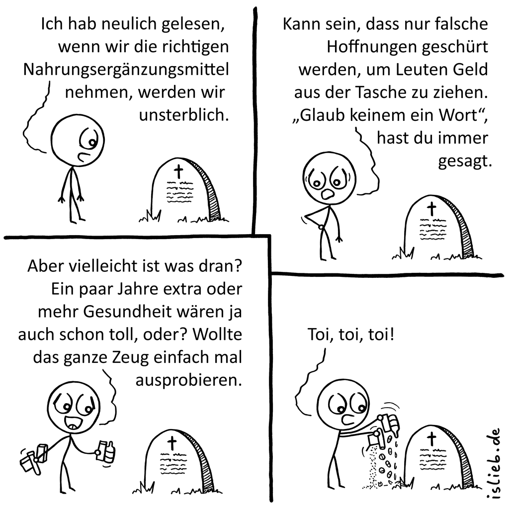 Nahrungsergänzungsmittel | Vitamin-Comic | is lieb?