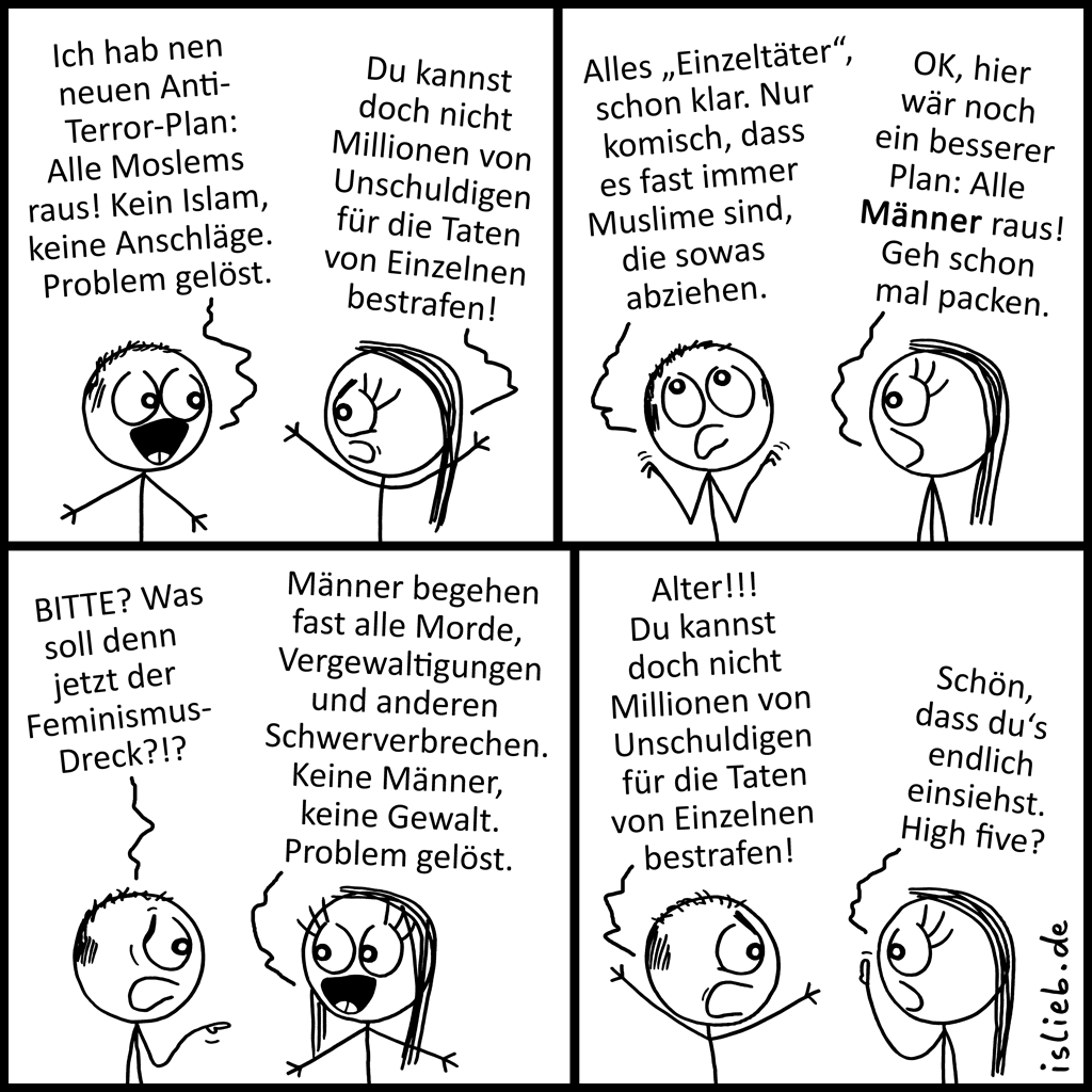 Plan | Strichmännchen-Comic | is lieb?