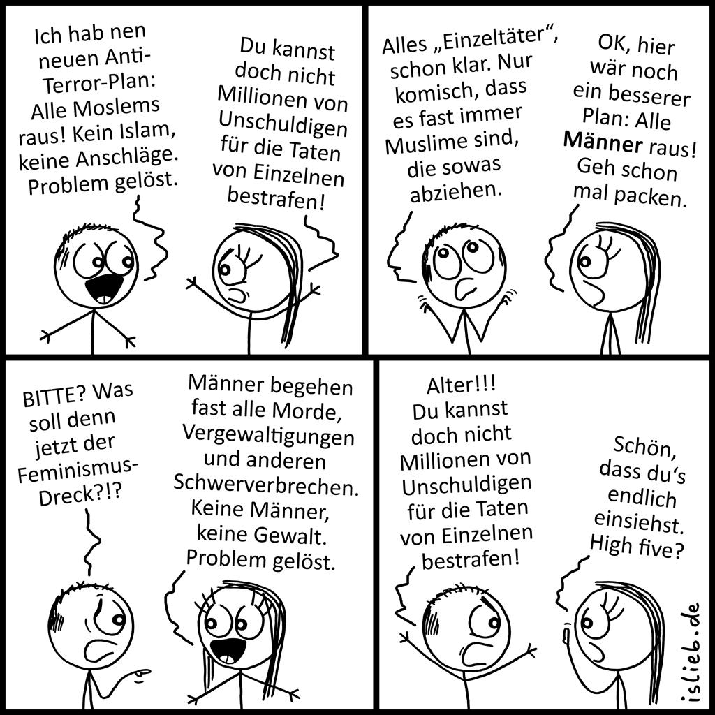Plan | Strichmännchen-Comic | is lieb?