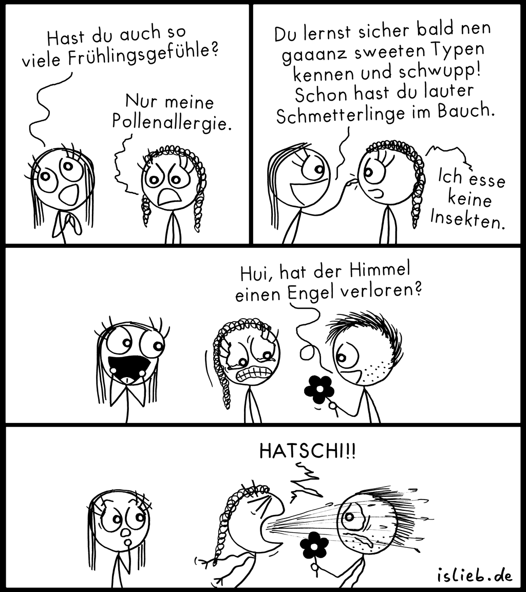 Frühling | Allergie-Comic | is lieb?
