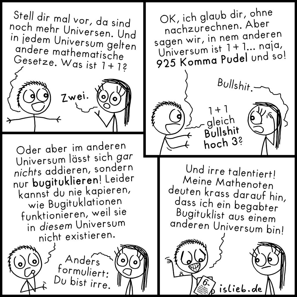 Hypothese | Mathematischer Comic | is lieb?
