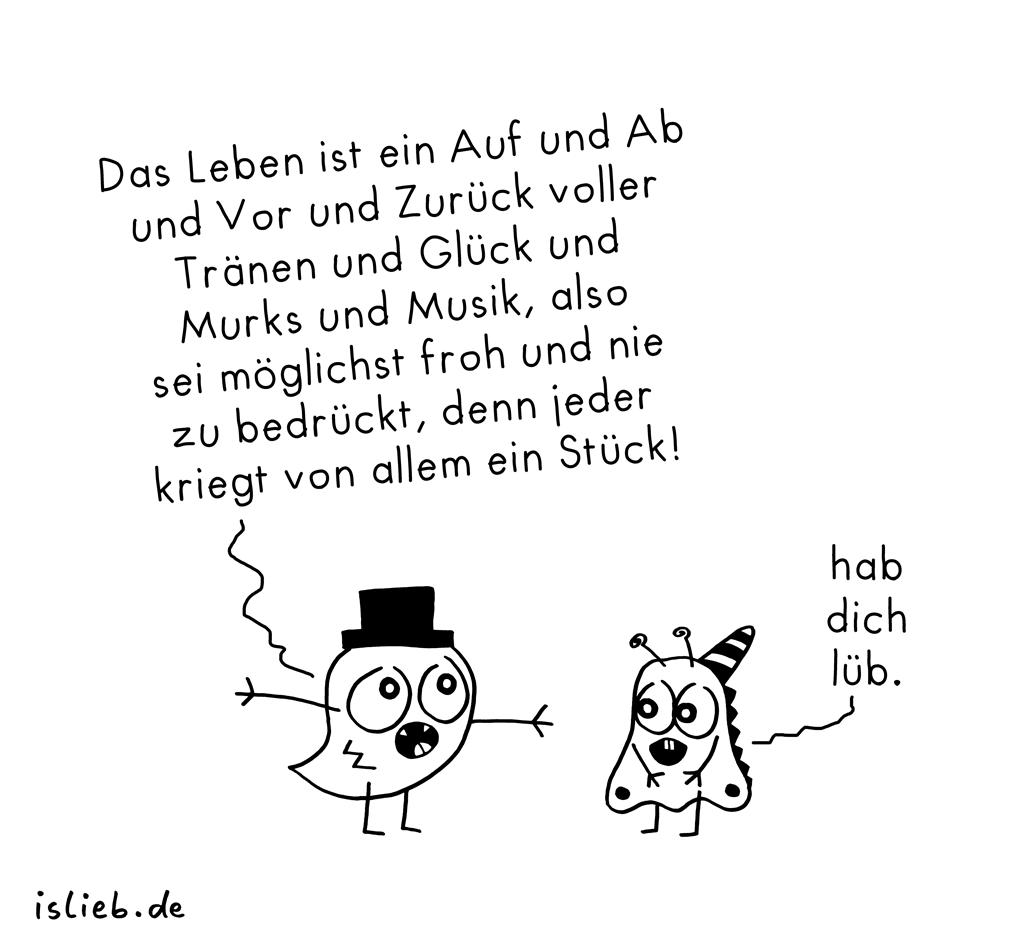 Auf und Ab | Philosophie-Cartoon | is lieb?