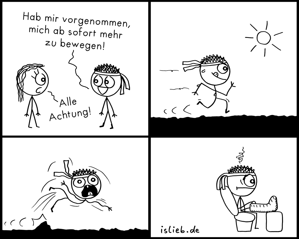 Bewegung | Sport-Comic | is lieb?