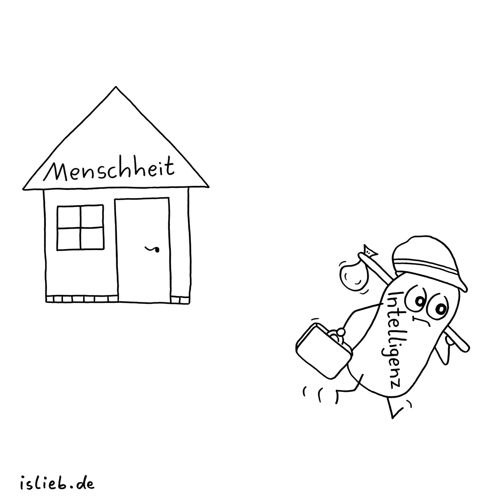 Bye | Menschheits-Cartoon | is lieb?