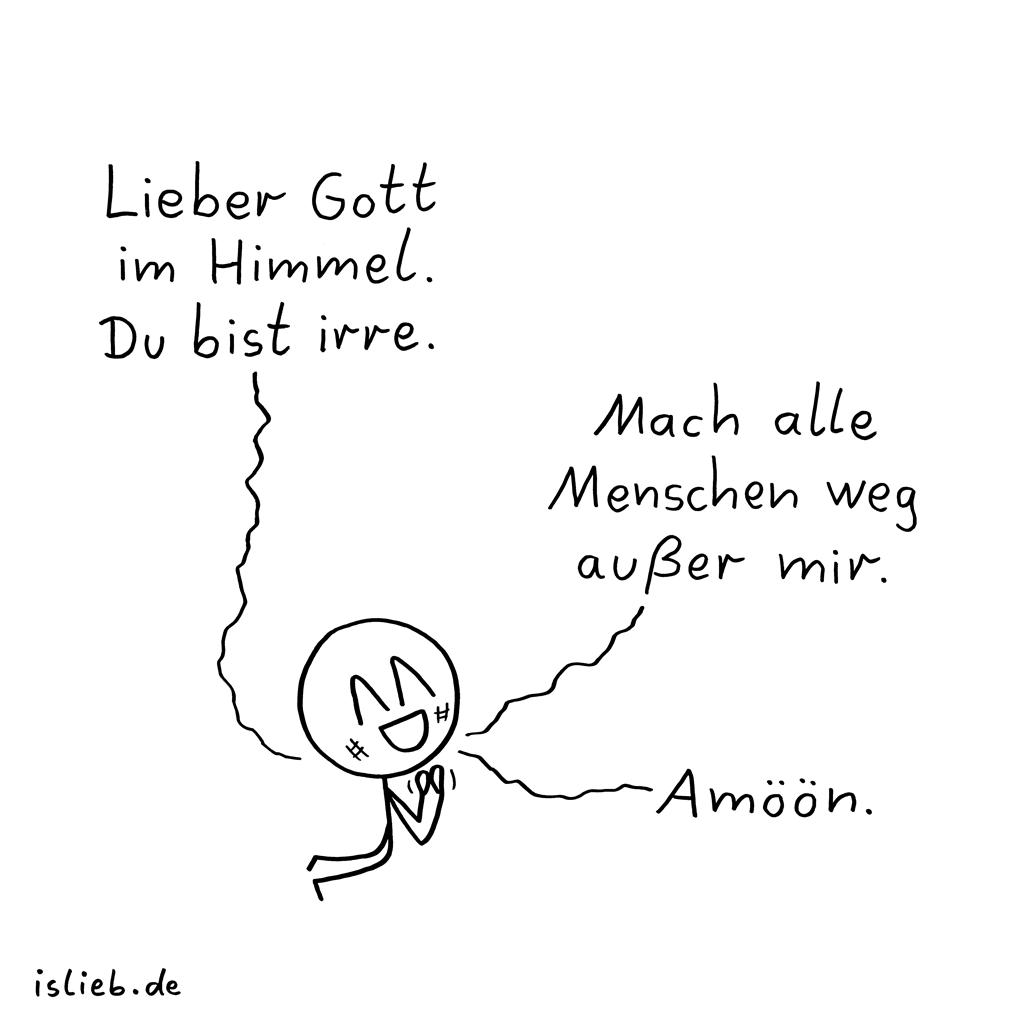 Gebet | Strichmännchen-Comic | is lieb?