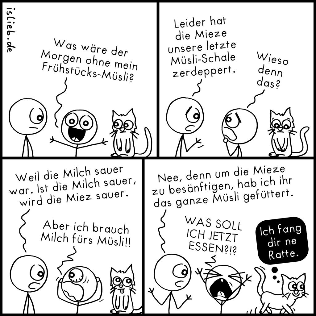 Müsli | Frühstücks-Comic | is lieb?