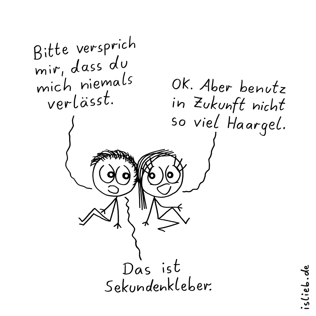 Niemals | Beziehungs-Cartoon | is lieb?