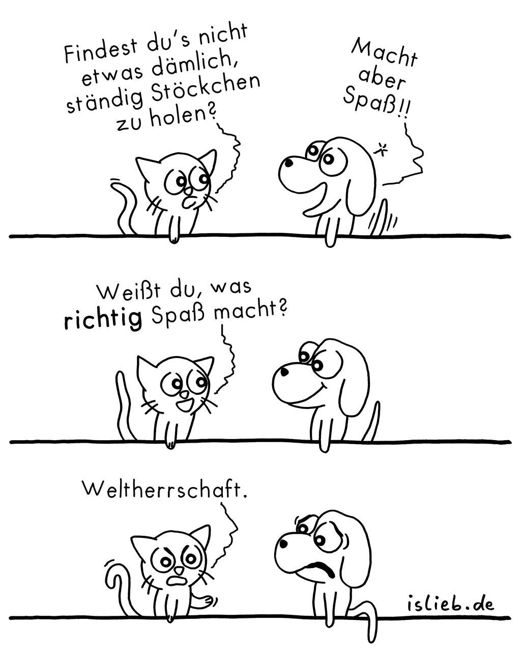 Spaß | Hunde-Katzen-Comic | is lieb?