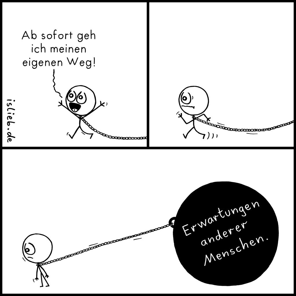 Ab sofort | Strichmännchen-Comic | is lieb?