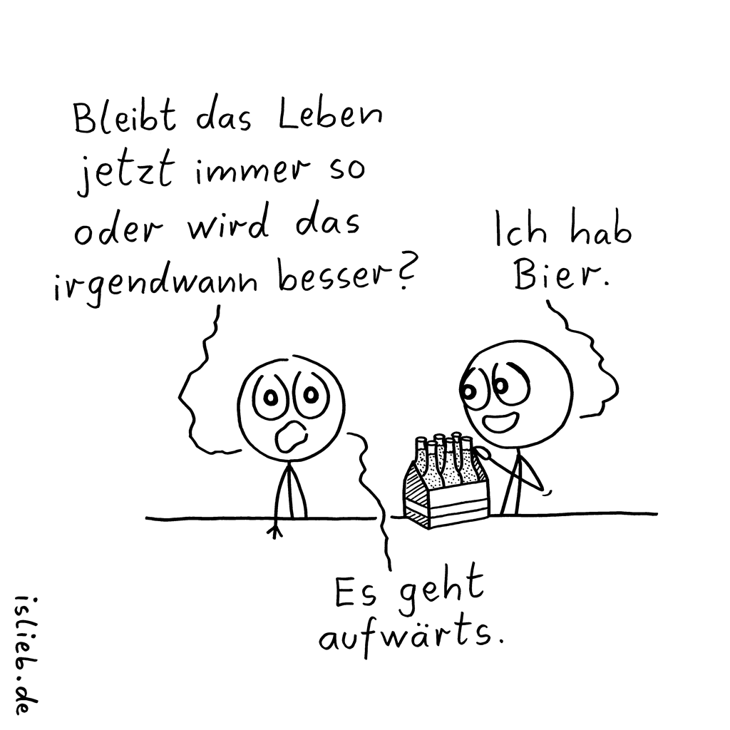 Fortschritt | Bier-Cartoon | is lieb?
