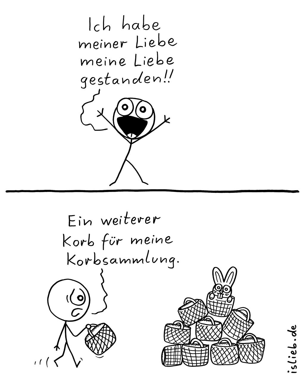 Geständnis | Strichmännchen-Comic | is lieb?