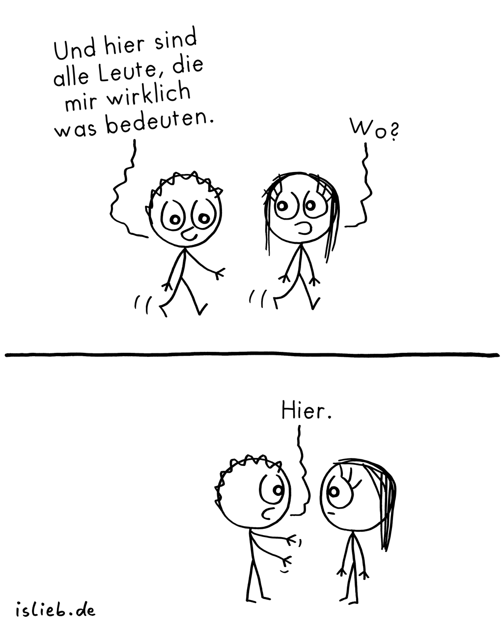 Hier | Bedeutungs-Comic | is lieb?