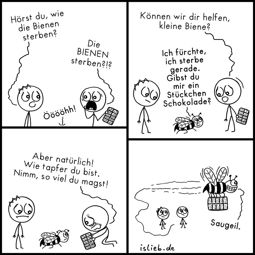 Letzter Wunsch | Bienen-Comic | is lieb?