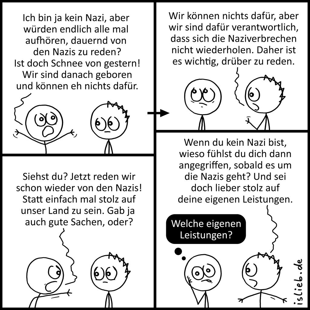 Die Nazis | Strichmännchen-Comic | is lieb?