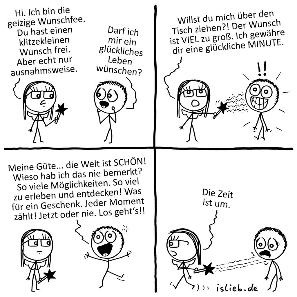 Geizige Wunschfee | Glücks-Comic | is lieb?