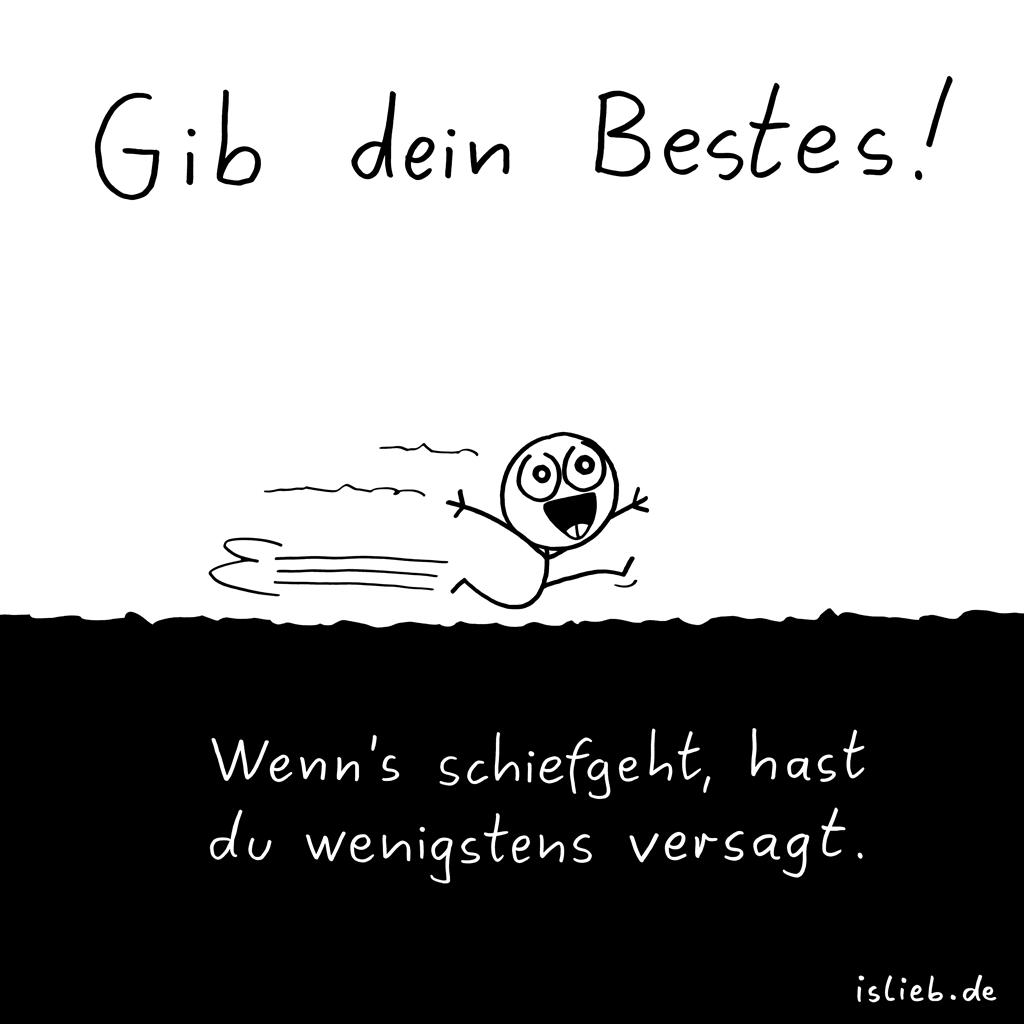 Gib dein Bestes | Motivations-Cartoon | is lieb?