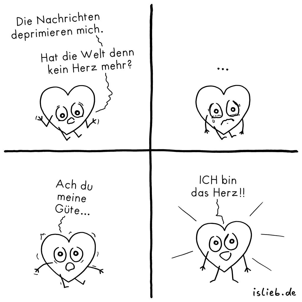 Kein Herz mehr? | Nachrichten-Comic | is lieb?