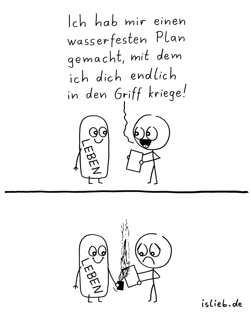 Pläne machen | Strichmännchen-Comic | is lieb?