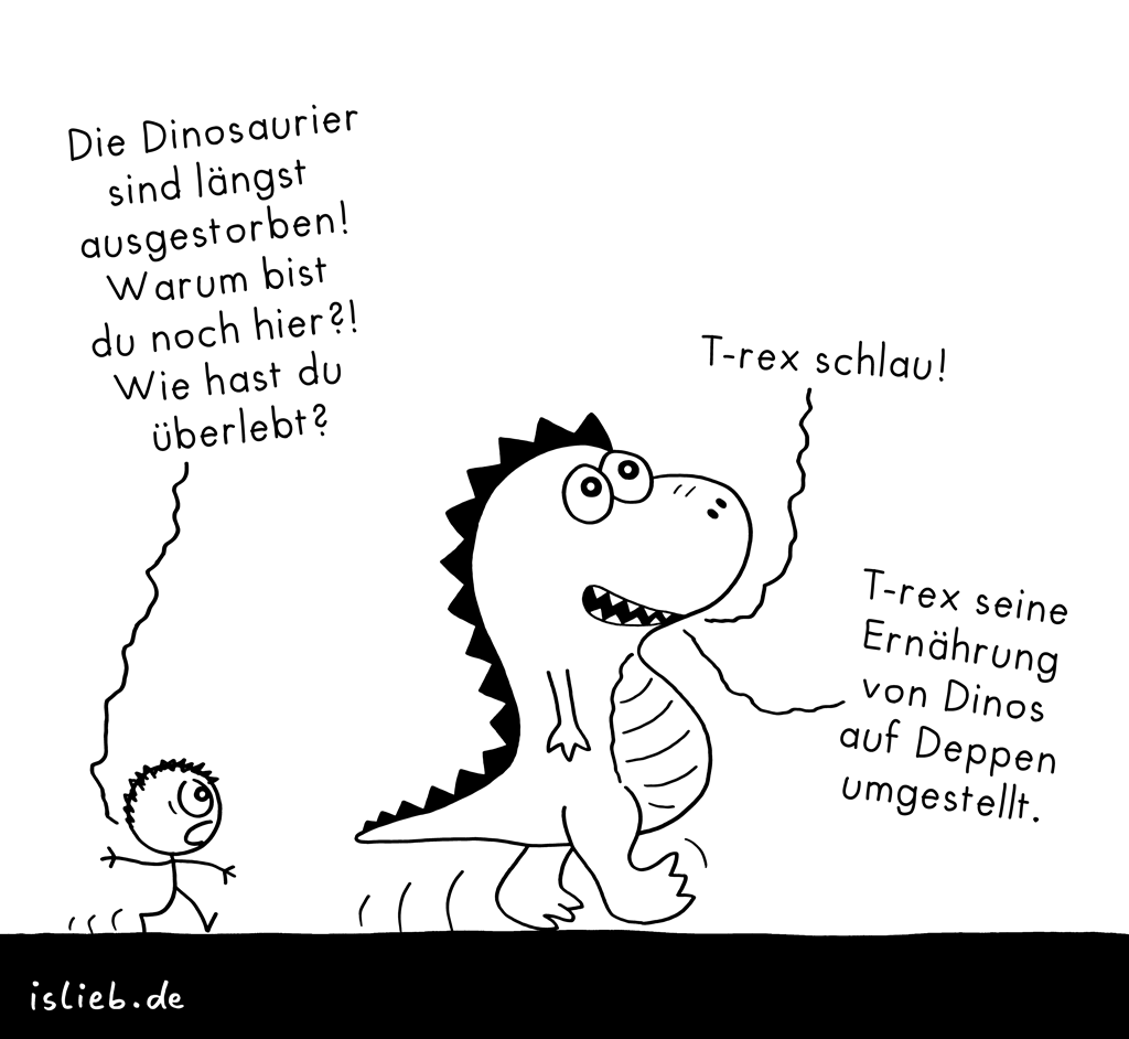 T-rex | Dinosaurier-Cartoon | is lieb?