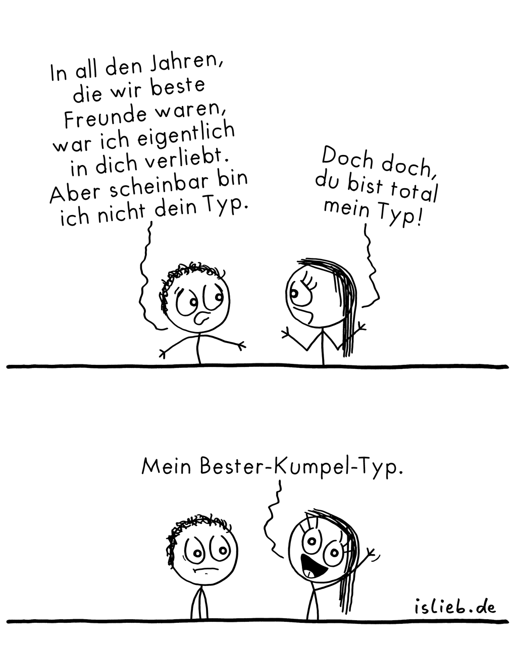 Typisch? | Typen-Comic | is lieb?